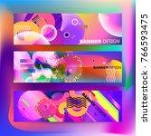 fluid color background. liquid... | Shutterstock .eps vector #766593475