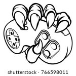 monster or animal hand or claws ... | Shutterstock .eps vector #766598011
