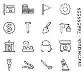thin line icon set   shop... | Shutterstock .eps vector #766599559