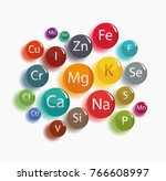 20 minerals  microelements and... | Shutterstock .eps vector #766608997