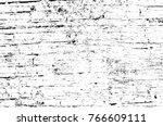 grunge black and white pattern. ... | Shutterstock . vector #766609111