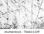 grunge black and white pattern. ... | Shutterstock . vector #766611139