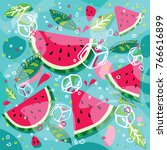 Watermelon Drawing Design Full...