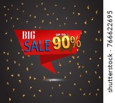 big sale banner template design ... | Shutterstock .eps vector #766622695