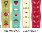 christmas and new year... | Shutterstock .eps vector #766623937