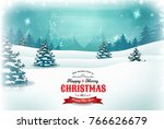 vintage christmas and new year... | Shutterstock .eps vector #766626679