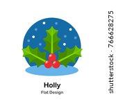 holly flat illustration