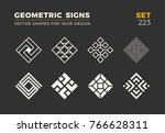 set of eight minimalistic... | Shutterstock .eps vector #766628311