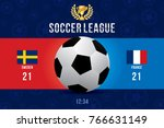 vector of soccer league with... | Shutterstock .eps vector #766631149