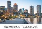 the architecture of boston in... | Shutterstock . vector #766631791