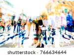 crowd of anonymous people...   Shutterstock . vector #766634644