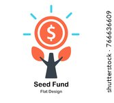 seed fund flat vector... | Shutterstock .eps vector #766636609