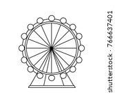 attraction ferris wheel... | Shutterstock .eps vector #766637401