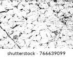 grunge black and white pattern. ... | Shutterstock . vector #766639099