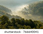 morning mist in carpathians | Shutterstock . vector #766640041