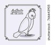 australia gang gang cockatoo...   Shutterstock .eps vector #766643905