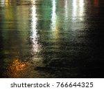 blurred wet surface  pavement  ... | Shutterstock . vector #766644325