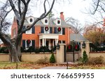 Two Story Red Brick House In...