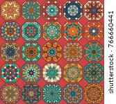 colorful vintage seamless...   Shutterstock .eps vector #766660441
