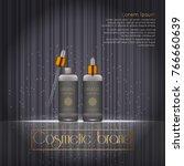 3d realistic cosmetic bottle... | Shutterstock .eps vector #766660639