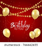 abstract happy birthday... | Shutterstock .eps vector #766662655