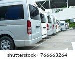 parking van cars in beautiful... | Shutterstock . vector #766663264