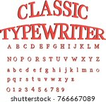 red  retro font with black... | Shutterstock .eps vector #766667089