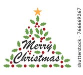 merry christmas text... | Shutterstock . vector #766669267