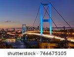bosphorus bridge long exposure. | Shutterstock . vector #766675105