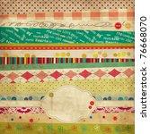scrap template of vintage worn... | Shutterstock .eps vector #76668070