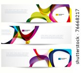 abstract banner with forms of... | Shutterstock .eps vector #76668217