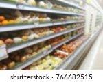 blur image of healthy fresh... | Shutterstock . vector #766682515
