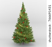 christmas tree on a white... | Shutterstock . vector #766691431