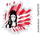 fatal woman  carmen   Shutterstock .eps vector #766693105