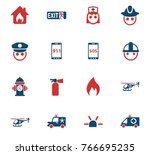 emergency vector icons for web... | Shutterstock .eps vector #766695235