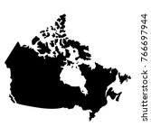 map of canada on a white... | Shutterstock .eps vector #766697944