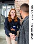 woman disarming human resource...   Shutterstock . vector #766701109