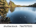 uath lochan and cairngorms in... | Shutterstock . vector #766707031