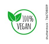 organic vegan design template.... | Shutterstock .eps vector #766708009