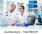 science  technology and people... | Shutterstock . vector #766708159