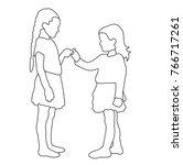 vector  isolated sketch... | Shutterstock .eps vector #766717261