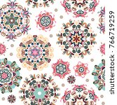 floral seamless pattern with...   Shutterstock . vector #766719259