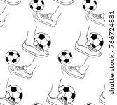 coloring foot kicks a soccer...