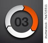 3 three parameter flat design... | Shutterstock .eps vector #766725511