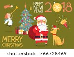 colorful card illustration with ... | Shutterstock .eps vector #766728469
