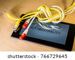 knotted net cable over a... | Shutterstock . vector #766729645