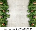 christmas grunge background... | Shutterstock . vector #766738255