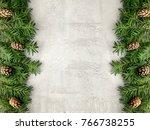 christmas grunge background... | Shutterstock . vector #766738255