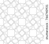 light gray geometric ornament.... | Shutterstock .eps vector #766740931