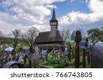 the traditional wooden ieud... | Shutterstock . vector #766743805